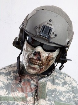 365airsoftshop zombi half face mask