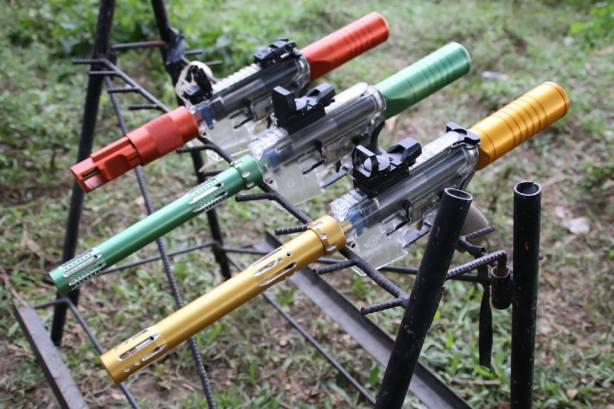 Some of the airsoft guns that saw action during Bakbakan sa Iligan III. (Foto: Al Fritz Ermac)