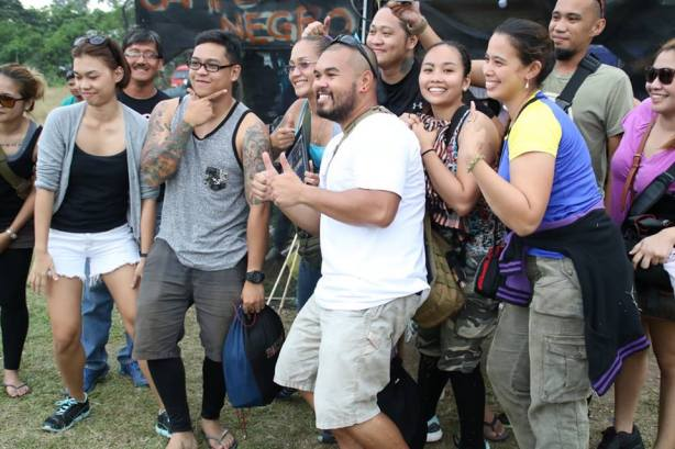 Players from Cebu City's Team BOA whoop it up after receiving the Sportsmanship Award at the Bakbakab sa Iligan III airsoft tournament at Campo Negro in Brgy. Santiago, Iligan City.